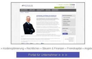 vecitus.de – Expertenportal für Unternehmer und Freiberufler ist online: Unternehmerzugang. © spothits/hersteller