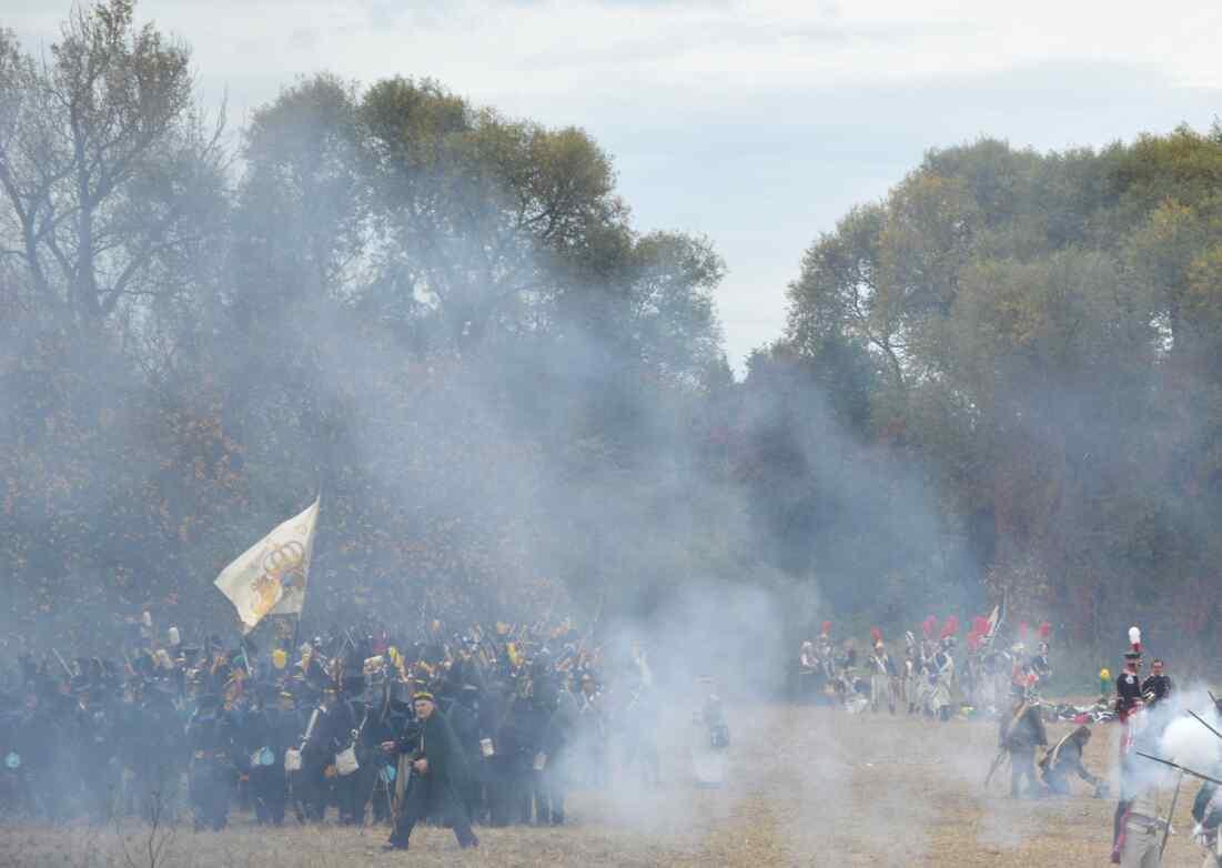 1813 – Völkerschlacht bei Leipzig: Kanonendonner und Gedenken der Opfer. © spothits/foto: katharina Geissler