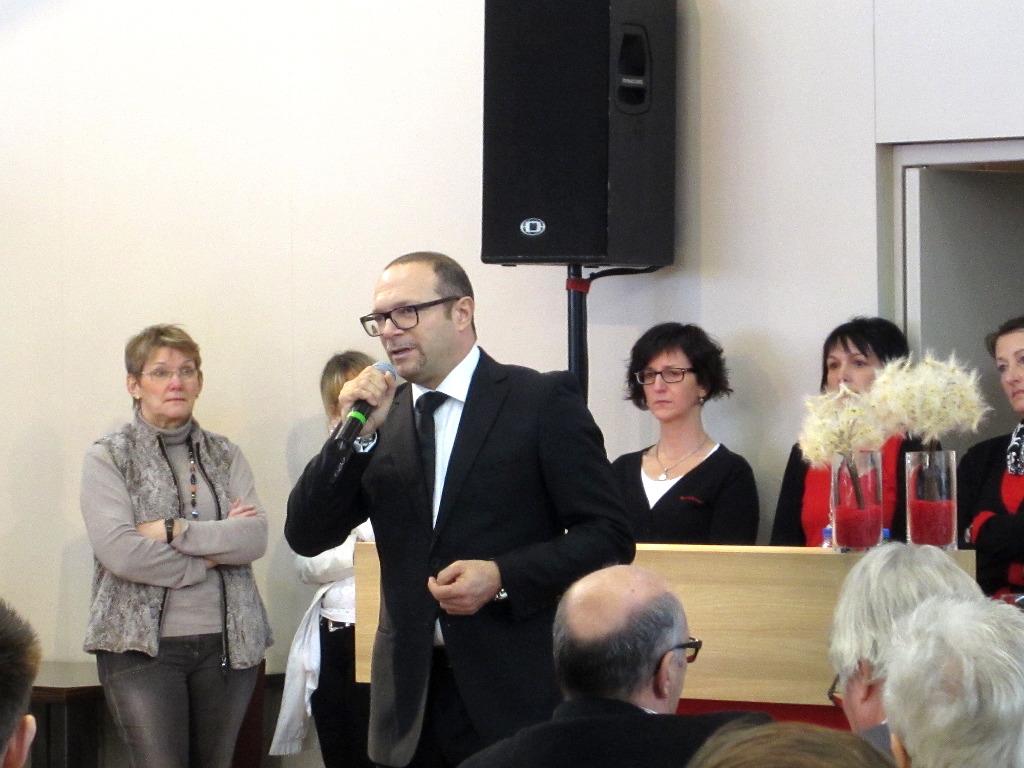 Giovanni Marcon (vorne) während der Bürstner Pressekonferenz zur CMT in Stuttgart 2014. © spothits/Bürstner