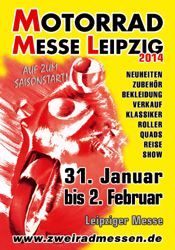 Motorrad Messe Leipzig 2014: Bikes, Roller, Zubehör. © spothits/zweiradmessen.de