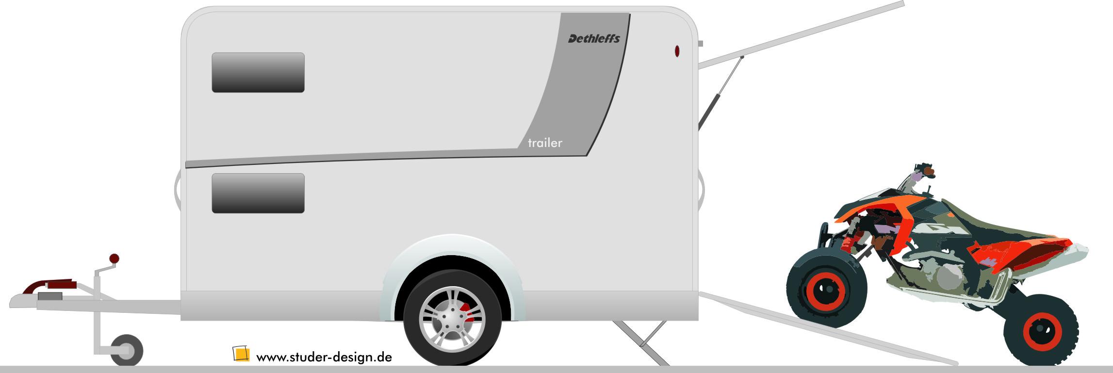 Dethleffs EVAN-Trailer: Flexibler Anhang, nicht nur für Dethleffs evan Reisemobil. © spothits/Studer Design