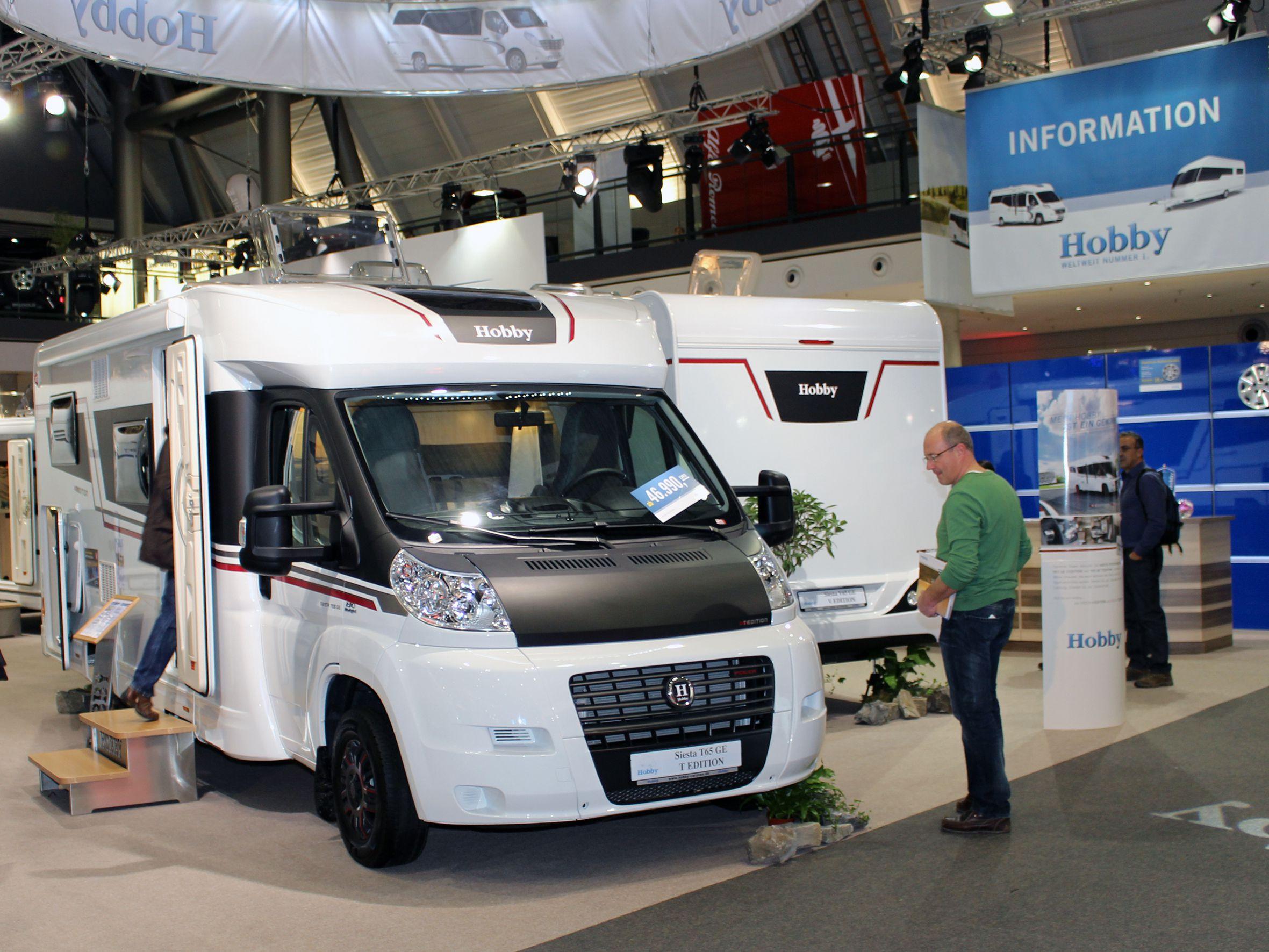 Hobby Caravans und Reisemobile starten erfolgreich in neue Saison. © spothits/Hobby