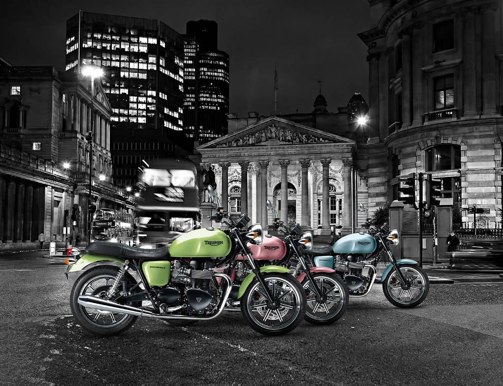 Triumph Bonneville SE 2014: Editionsmodelle in drei Sonderlackierungen. © spothits/Triumph