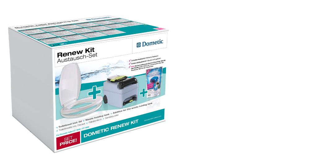 Dometic Renew Kit: Verjüngungskur für's stille Örtchen im Reisemobil und Caravan. © spothits/Dometic