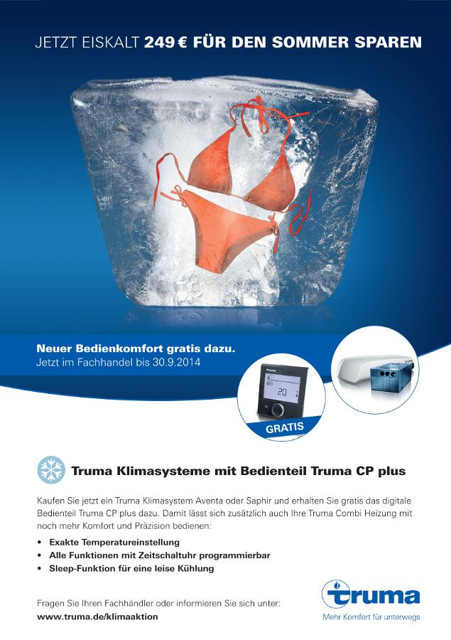Truma mit Preisvorteil bei Kauf einer Klimaanlage. © spothits/Truma