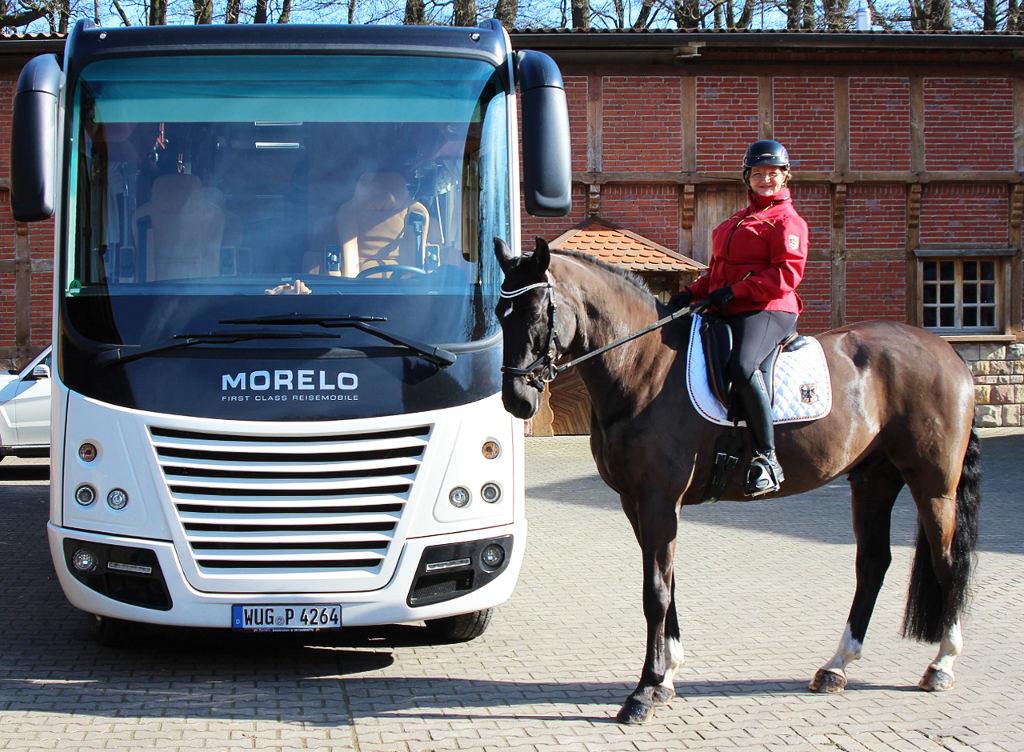 Morelo Palace 90 G: Mobiles Zuhause für Elke Philipp – Deutsche Meisterin im Para-Equestrian. © spothits/Morelo