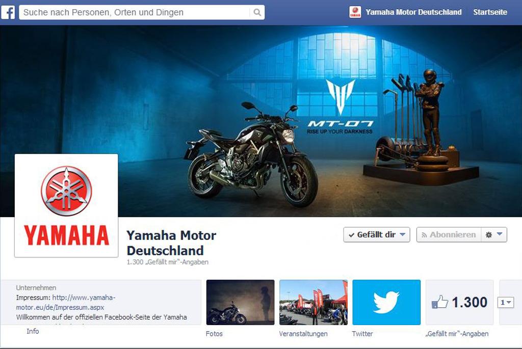 Yamaha Motor Deutschland verstärkt Social Media Aktivitäten. © spothits/Yamaha