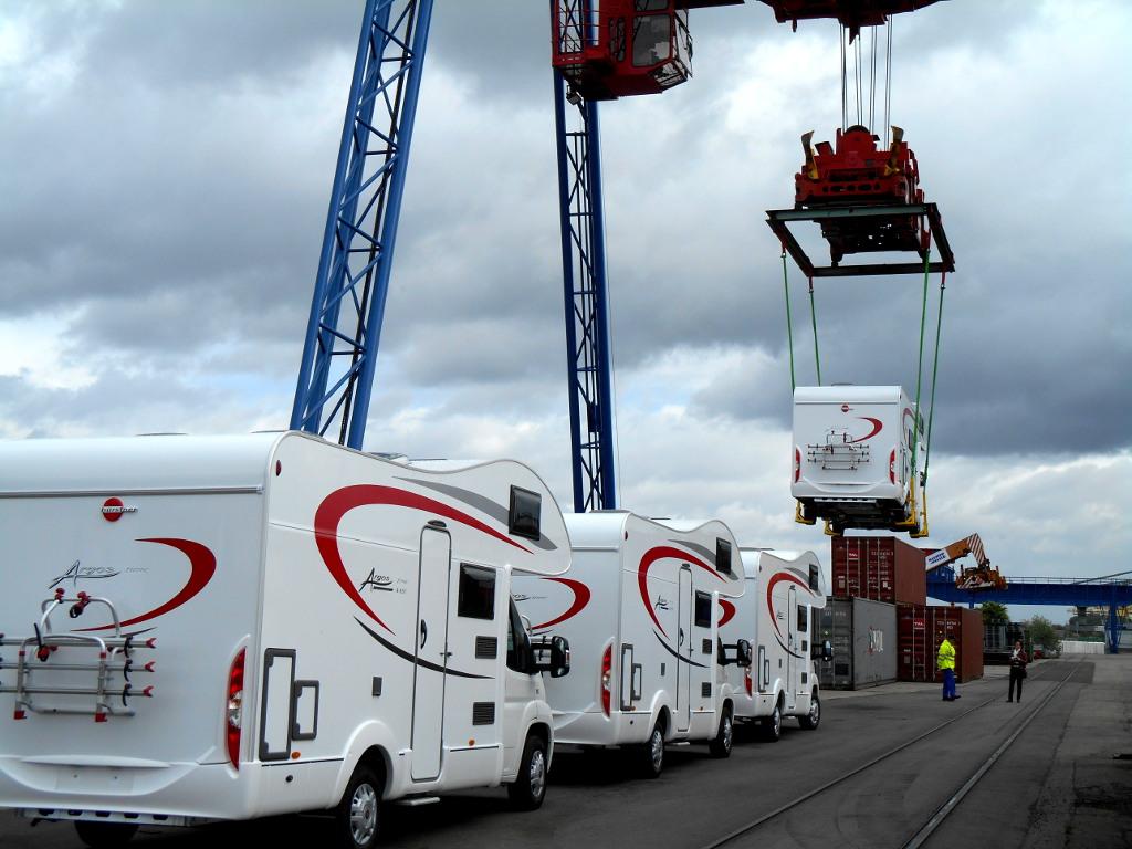 Bürstner liefert Argros Reisemobile erstmals per Schiff. © spothits/Bürstner