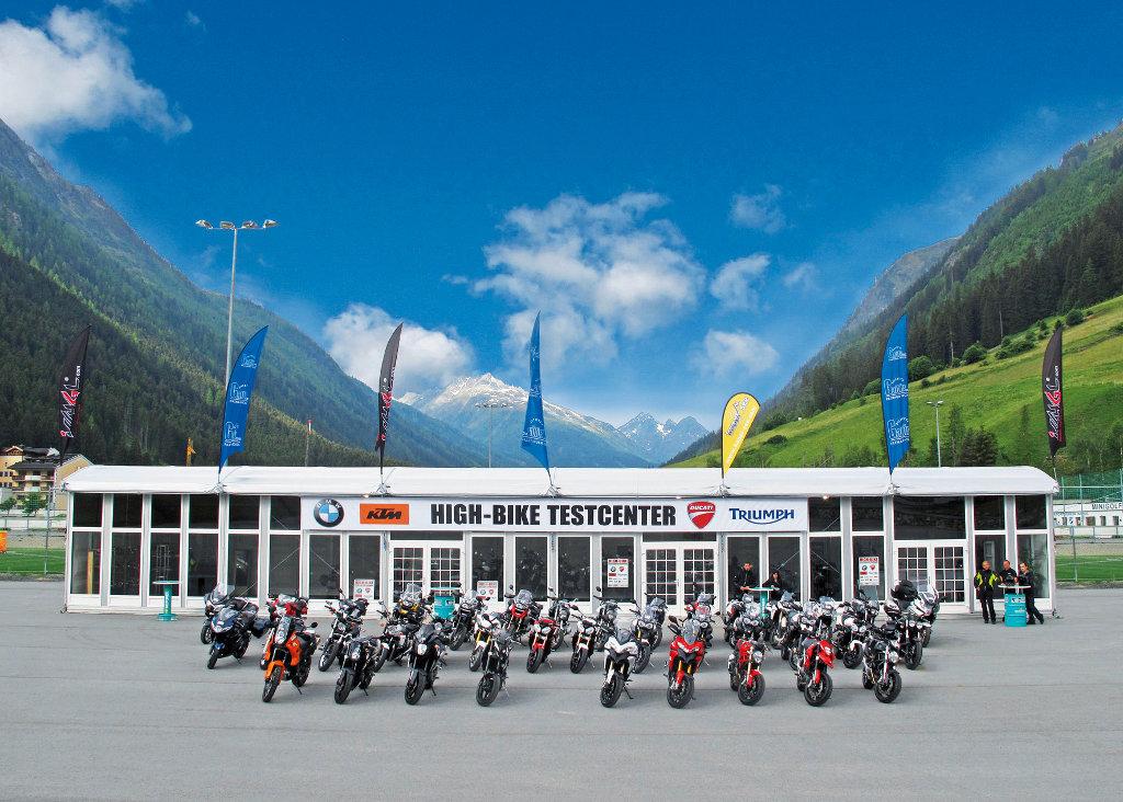 Motorrad-Test: High-Bike Testcenter Paznaun – Die neuesten Bikes im Test. © spothits/ Testcenter Paznaun