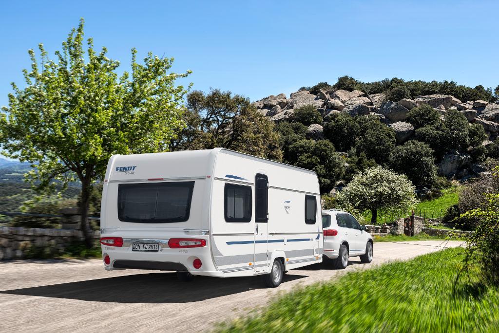 Fendt und Intercaravaning bieten Miet-Caravans für Campingferien. © spothits/Fendt