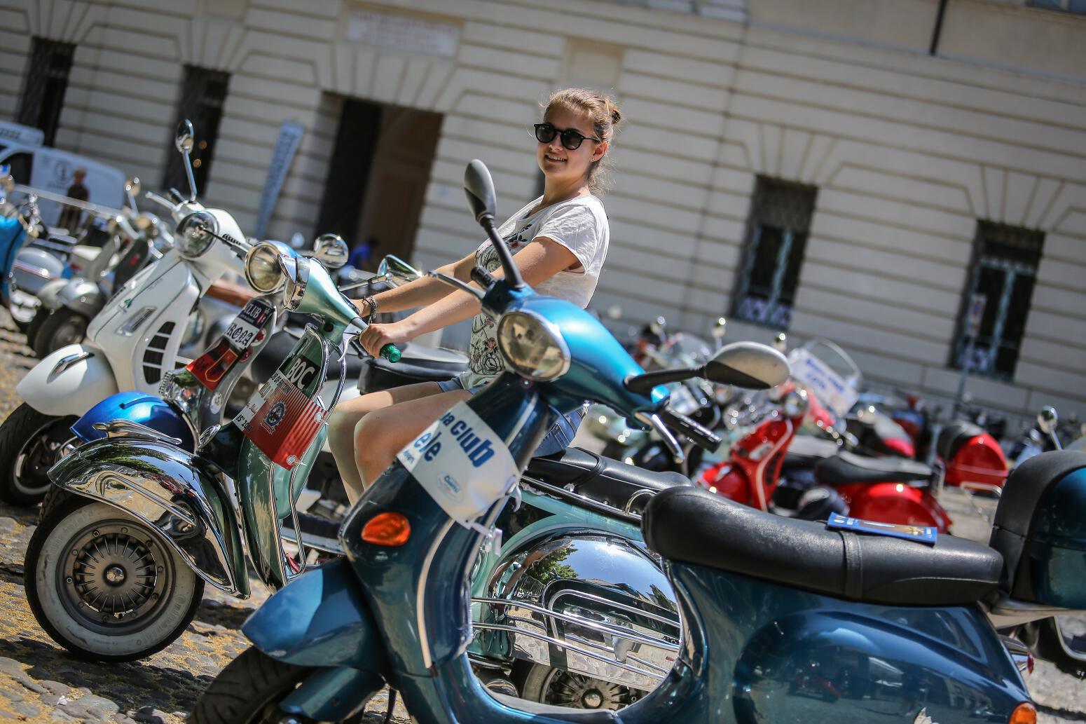 Vespa World Days 2014: Vespa-Fans feierten Kult-Roller. © spothits/Piaggio