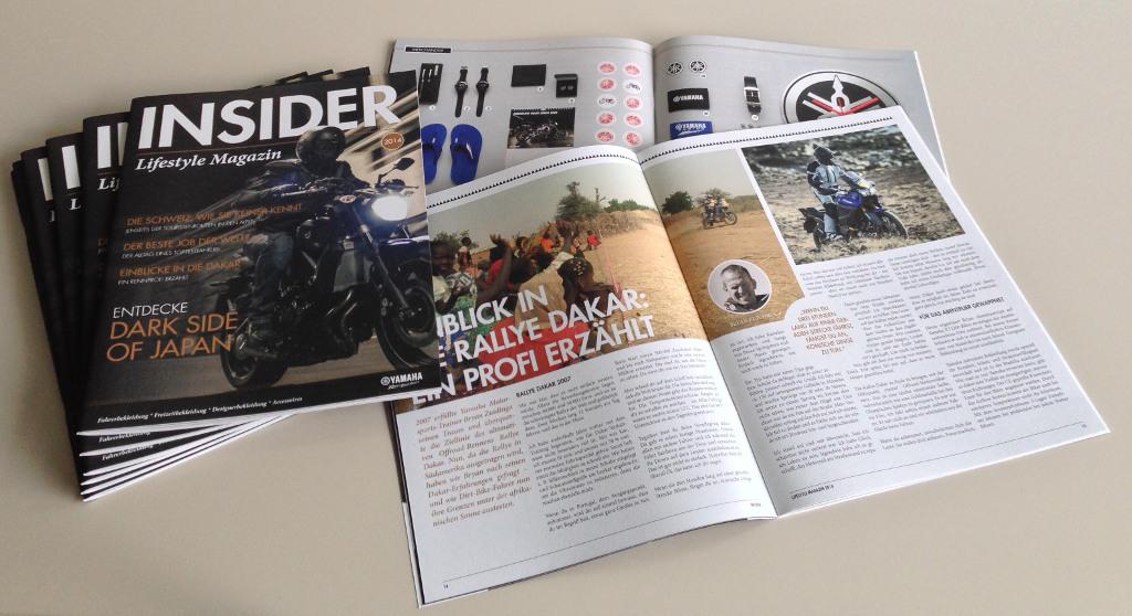 Yamaha Lifestyle-Magazin »Insider« mit Reportagen, Interviews und Angeboten. © spothits/Yamaha