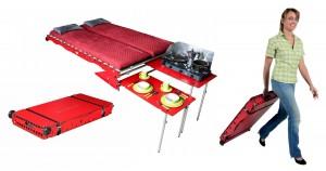 Swissroombox präsentiert das Wohnmobil im Koffer. © spothits/Swissroombox