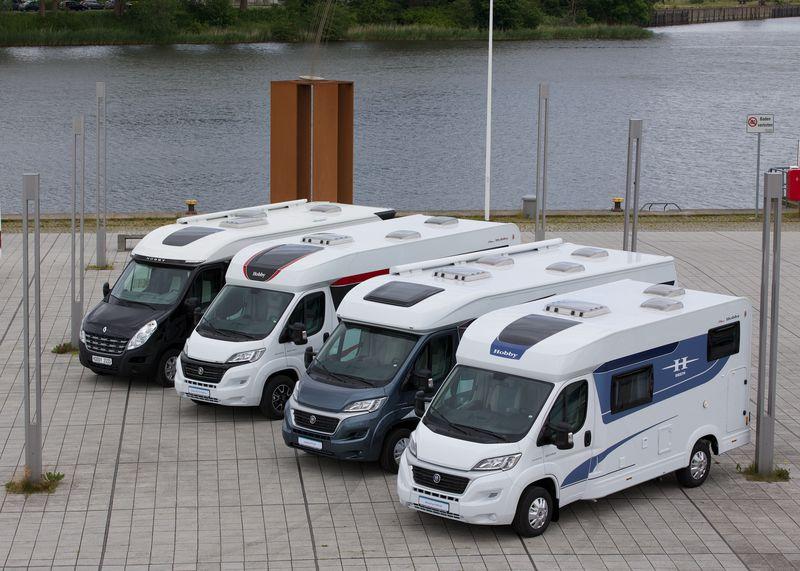 Hobby Neuheiten 2015: Einstiegs-Caravan OnTour, Kastenwagen Vantana und Reisemobil Optima. © spothits/Hobby