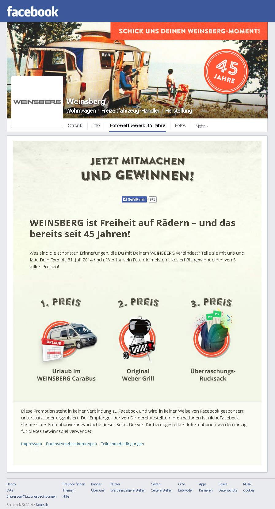 Weinsberg Foto-Gewinnspiel. © spothits/weinsberg