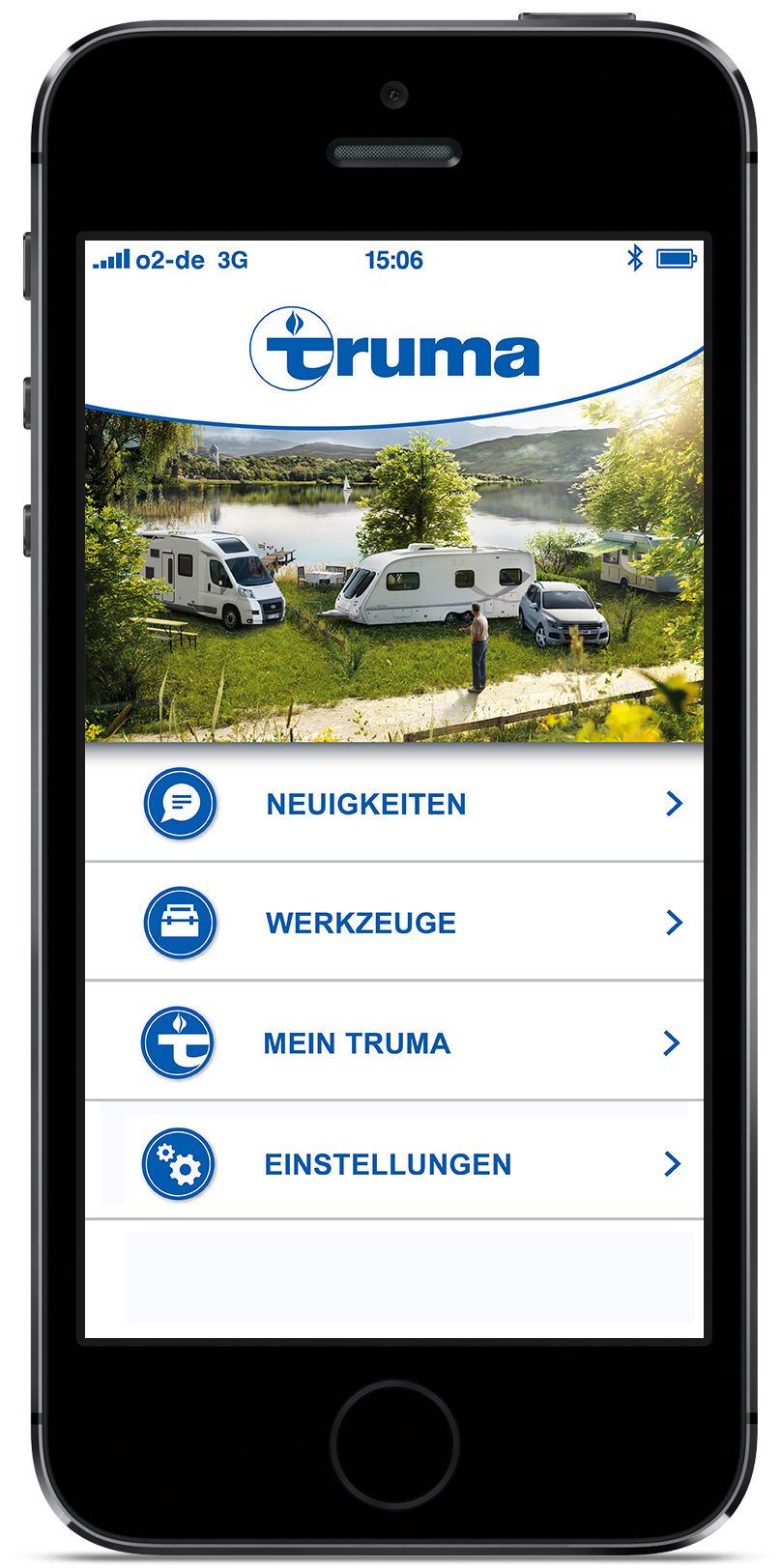 Truma App Startseite. © spothits/Truma