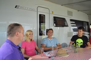 Hymer Eriba Exciting 560 als Miet-Caravan auf Campingplatz Gitzenweiler Hof. © spothits/Hymer