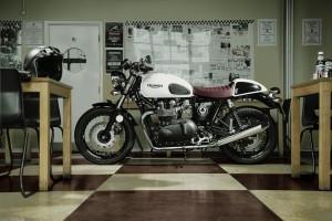 Triumph Thruxton: Special Edition verneigt sich vor Ace Café. © spothits/ampnet