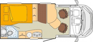 InterCaravaning Edition IC-Line Nexxo Time T569. Grundriss. © spothits/InterCaravaning