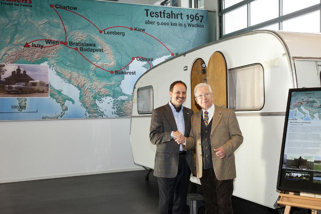 Dethleffs Geschäftsführer Dr. Dominik Suter (l.), Bernd Riedle (r.). © spothits/Dethleffs