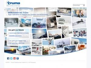 Truma mit neuer Startseite. © spothits/Truma