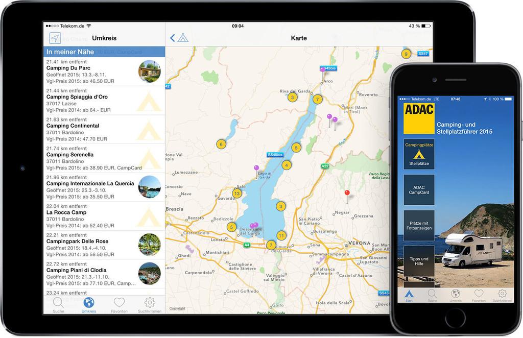 ADAC bietet neue Campingplatz-App.© spothits/ Auto-Medienportal.Net/ADAC