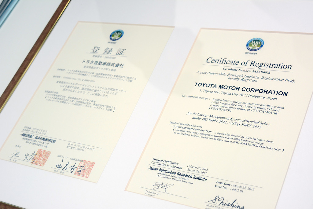 Toyota für Energiemanagement zertifiziert. © spothits/Auto-Medienportal.Net/Toyota