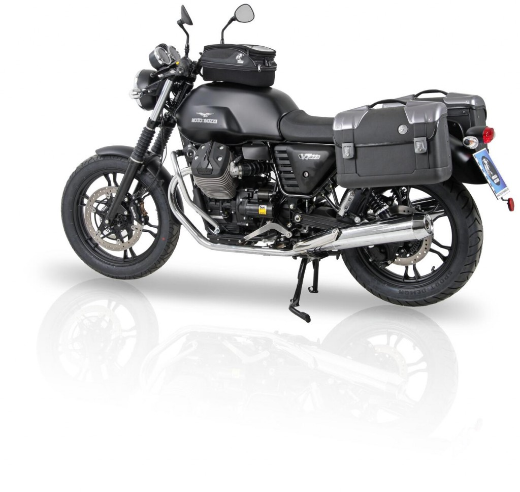 Hepco & Becker rüstet Moto Guzzi V7 II aus. © spothits/Hepco & Becker
