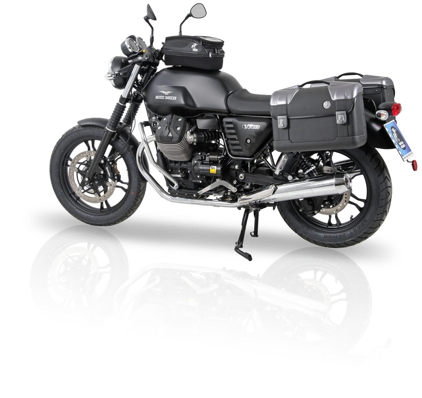 hepco becker r stet moto guzzi v7 ii aus spothits. Black Bedroom Furniture Sets. Home Design Ideas