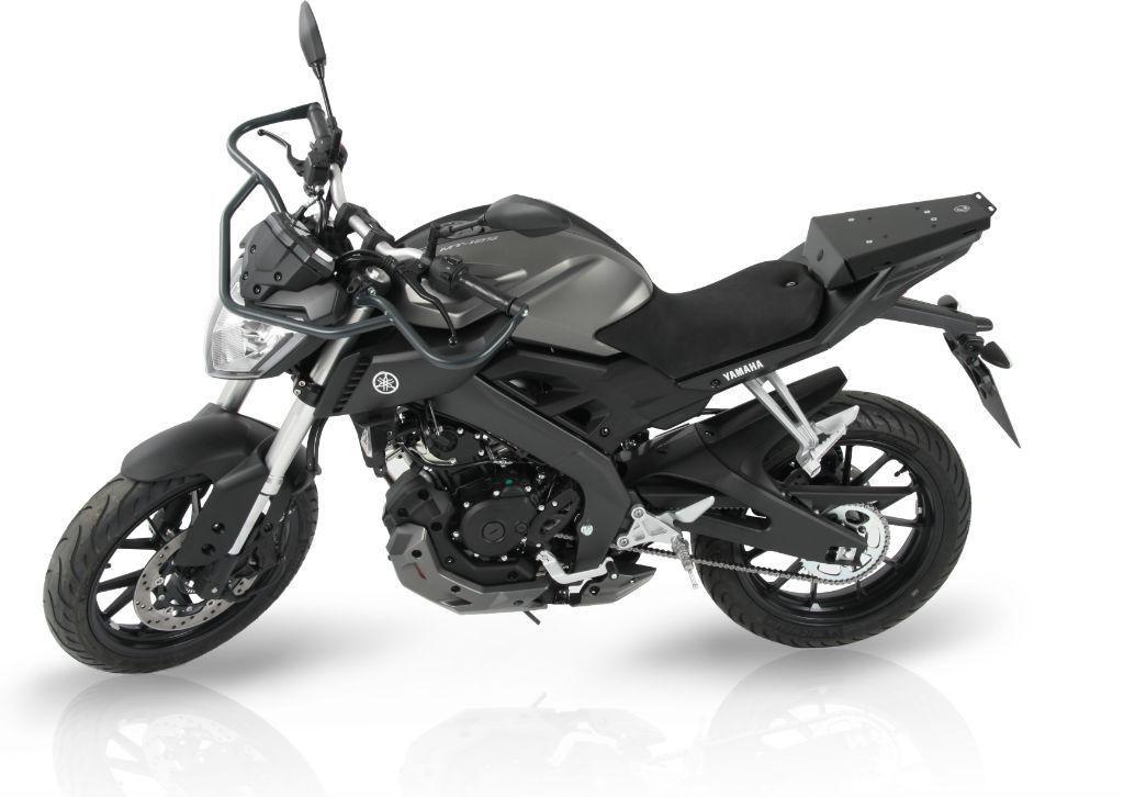 Hepco & Becker rüstet Yamaha MT 125 ABS aus. © spothits/Hepco & Becker
