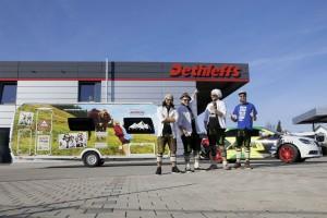 """Losamol tourt mit Dethleffs """"Allgäu""""-Caravan. © spothits/Dethleffs"""