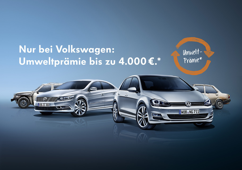 Volkswagen bringt Umweltprämie zurück. © spothits/Auto-Medienportal.Net/Volkswagen