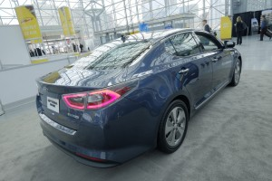 New York 2015: Kia Optima Hybrid im neuen Design. © spothits/Auto-Medienportal.Net/Manfred Zimmermann