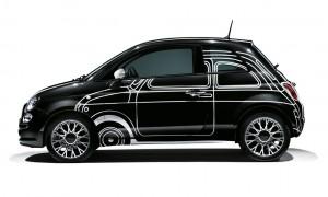 Fiat bringt Sondermodell 500 Ron Arad Edition. © spothits/Auto-Medienportal.Net/Fiat