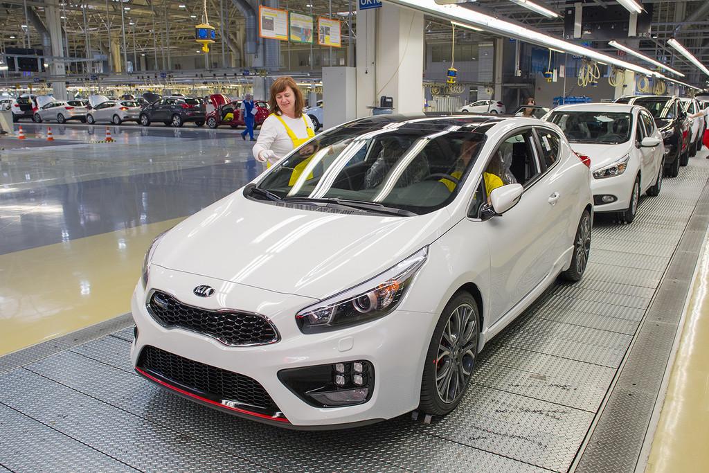 Kia-Werk-Zilina baut zweimillionstes Fahrzeug. © spothits/Auto-Medienportal.Net/Kia