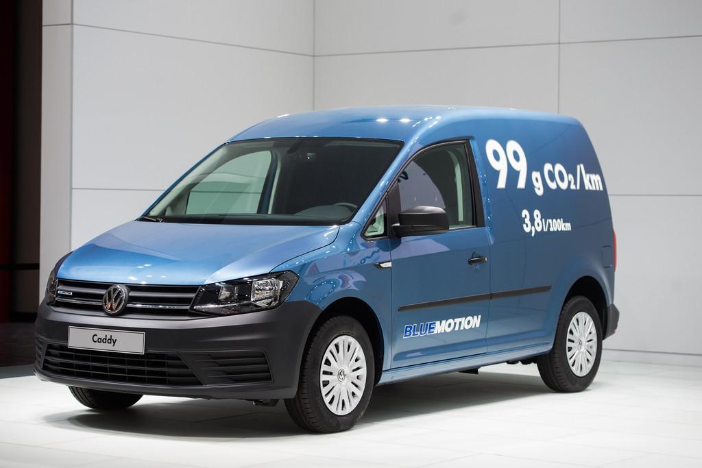 Hannover 2015: Premiere für Volkswagen Caddy Kastenwagen Blue Motion. © spothits/ Auto-Medienportal.Net/Volkswagen