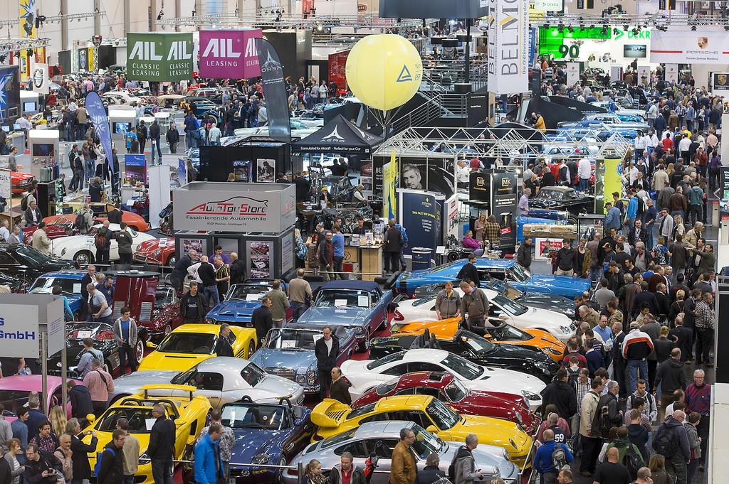 Techno-Classica begeisterte rund 190 000 Automobilfans. © spothits/Auto-Medienportal.Net/Messe Essen