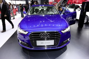 Shanghai 2015: Audi A6L E-Tron startet 2016. © spothits/Auto-Medienportal.Net/Manfred Zimmermann