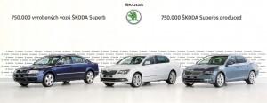 Skoda baut 750 000sten Superb. © spothits/Auto-Medienportal.Net/Skoda