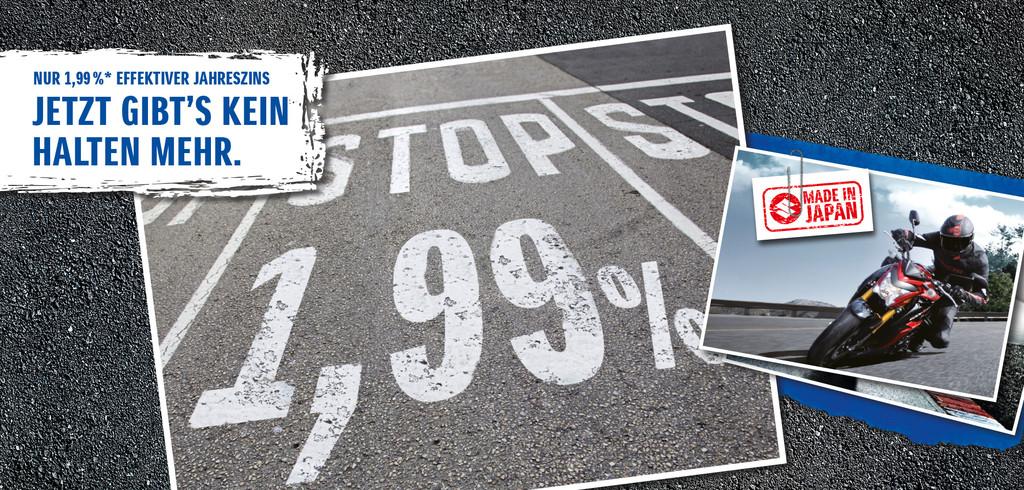 Suzuki bietet günstige Motorrad-Finanzierung. © spothits/Auto-Medienportal.Net/Suzuki