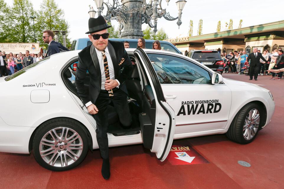 ŠKODA chauffierte die Stars zum Radio Regenbogen Award: Jan Delay. © spothist/ŠKODA