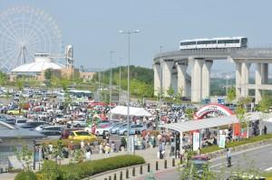 Historische Rennwagen versammeln sich am Toyota-Museum. © spothits/Auto-Medienportal.Net/Toyota