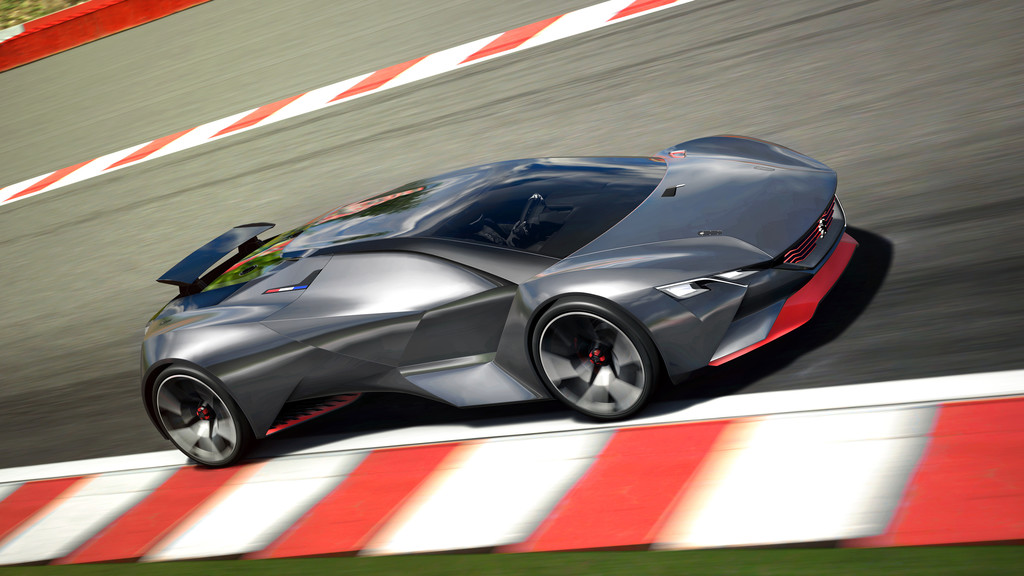 Mal wieder nur virtuell: Peugeot Vision Gran Turismo. © spothits/Auto-Medienportal.Net/Peeugeot