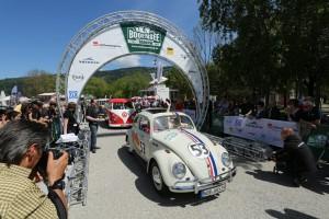 Bodensee-Klassik 2015: Herbie und der letzte Mohikaner. © spothits/Auto-Medienportal.Net/Volkswagen