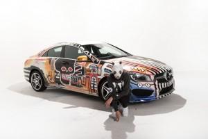 Cro gestaltet Mercedes-Benz CLA für Deutschlandtour. © spothits/Auto-Medienportal.Net/Daimler