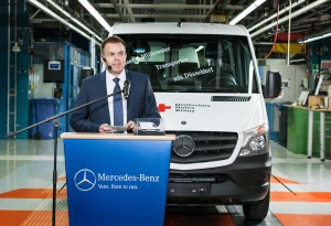 Viermillionster Mercedes-Benz-Transporter aus Düsseldorf. © spothits/Auto-Medienportal.Net/Daimler