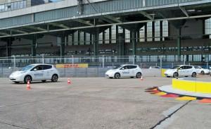 577 Elektroautos brachen in Berlin den Weltrekord. © spothits/Auto-Medienportal.Net/Nissan