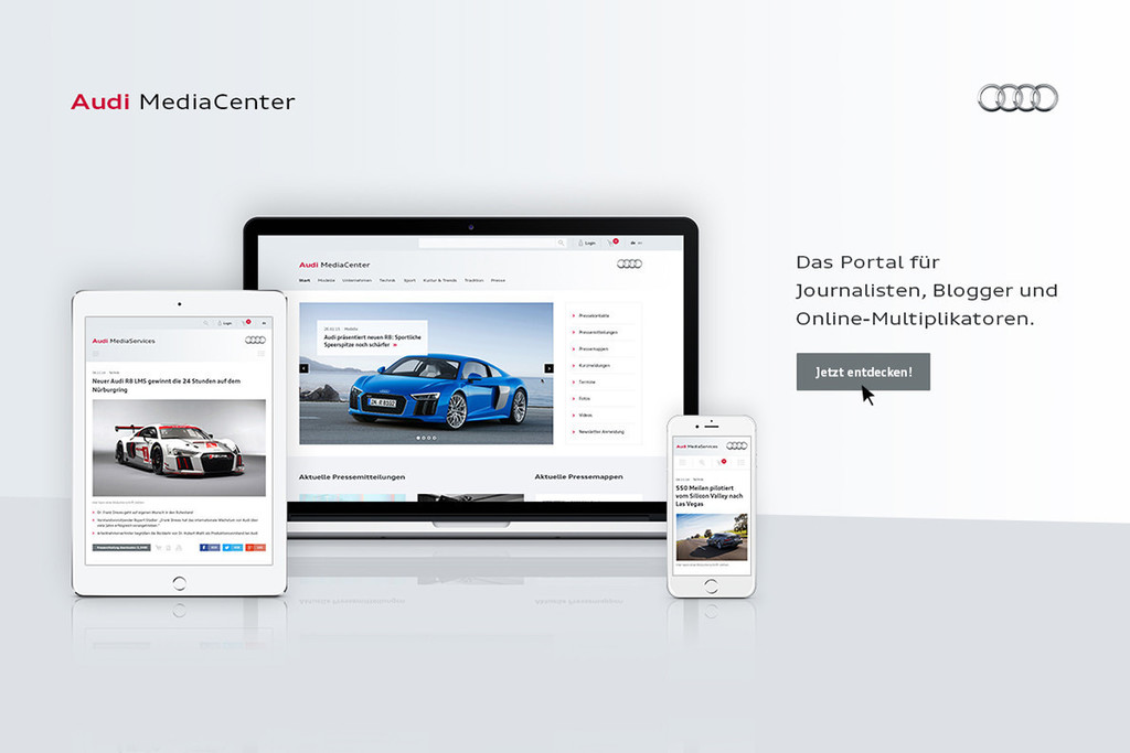 Neues Audi-Mediacenter online. © spothits/Auto-Medienportal.Net/Audi