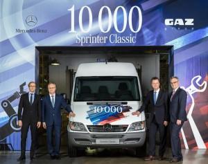 Meilenstein für Mercedes-Benz Vans in Russland: 10 000 Sprinter Classic. © spothits/Auto-Medienportal.Net/Daimler