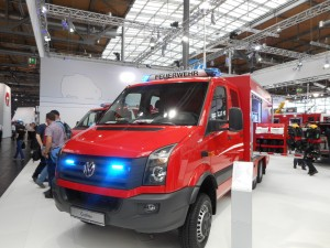 Interschutz 2015: Volkswagen Crafter für die Feuerwehr. © spothits/Auto-Medienportal.Net